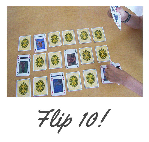 Flip 10 math game