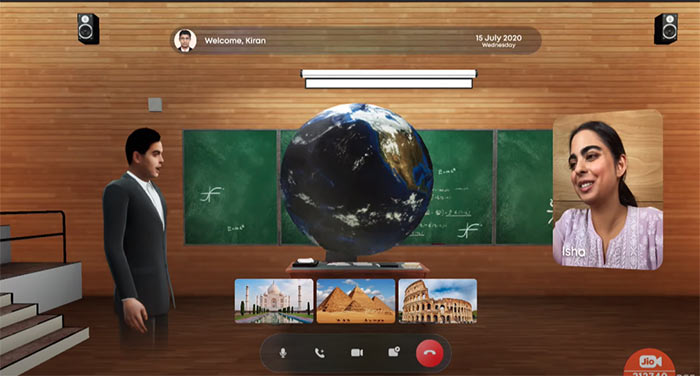 Jio Glass Virtual Classrooms