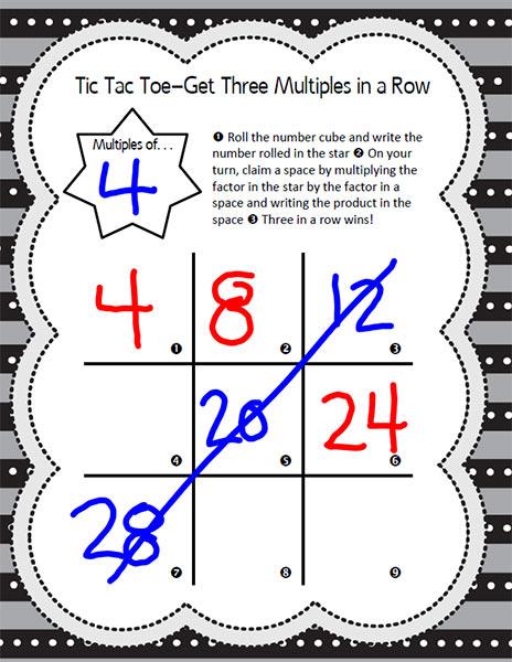 TicTacToe Math Game
