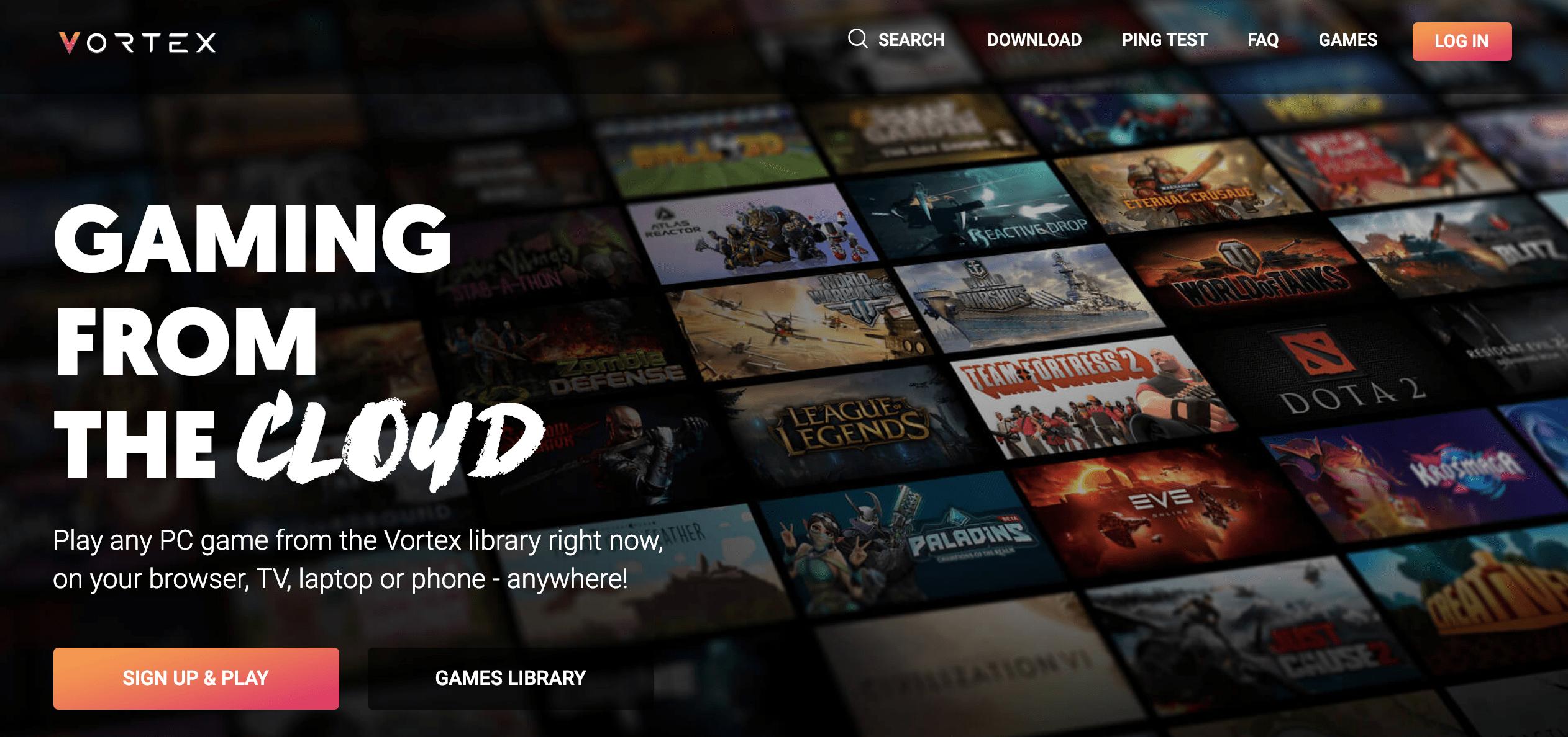 vortex cloud gaming services