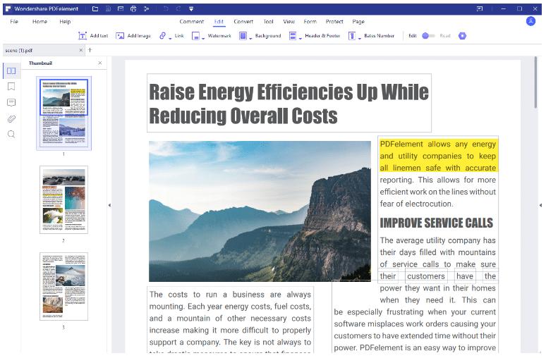 pdf element edit