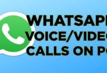 make whatsapp voice video calls