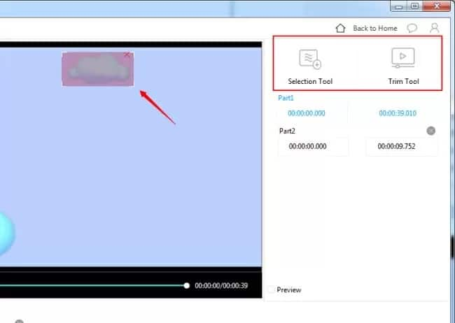 get rid of watermark on video – selection tool