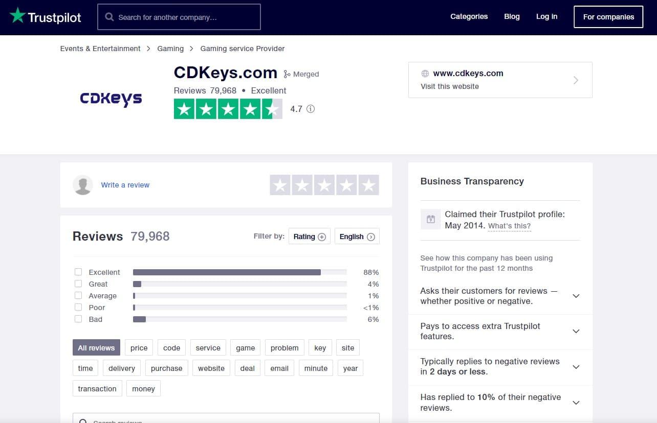 CDkeys review