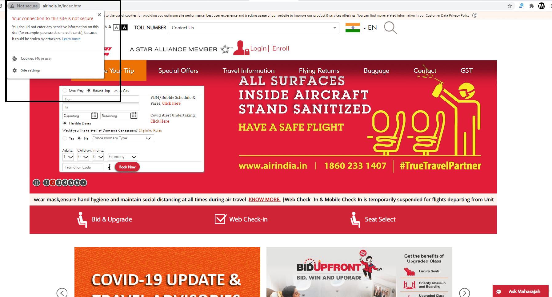 Air India Site