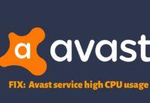 Avast Service High CPU usage