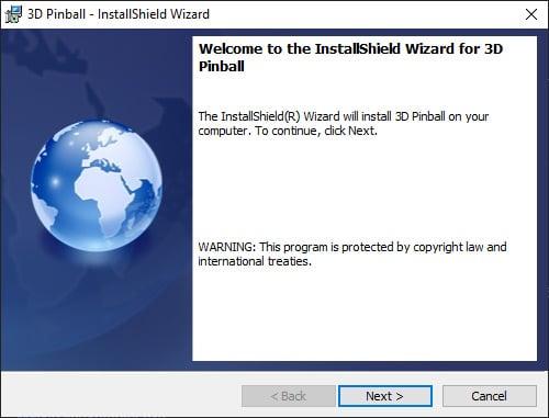 Install 3D pinball on Windows 10