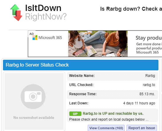 Is Rarbg down