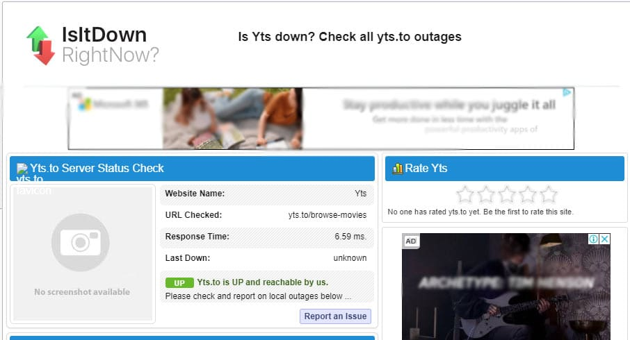 Is Yify Down