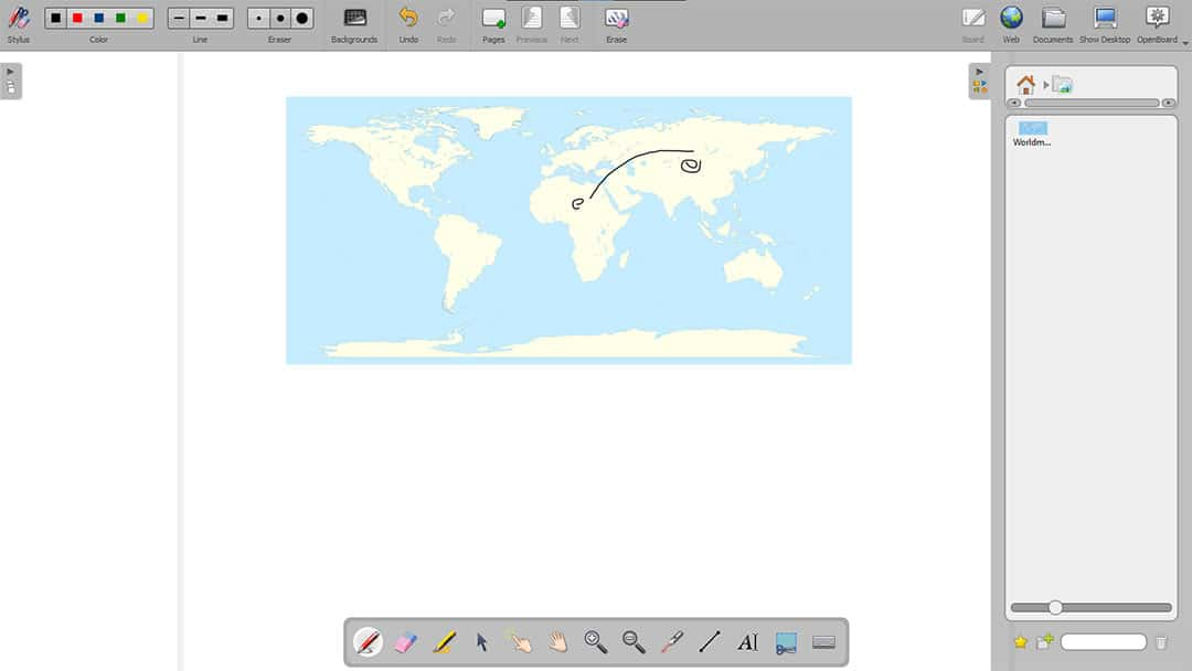 OpenBoard drawing software
